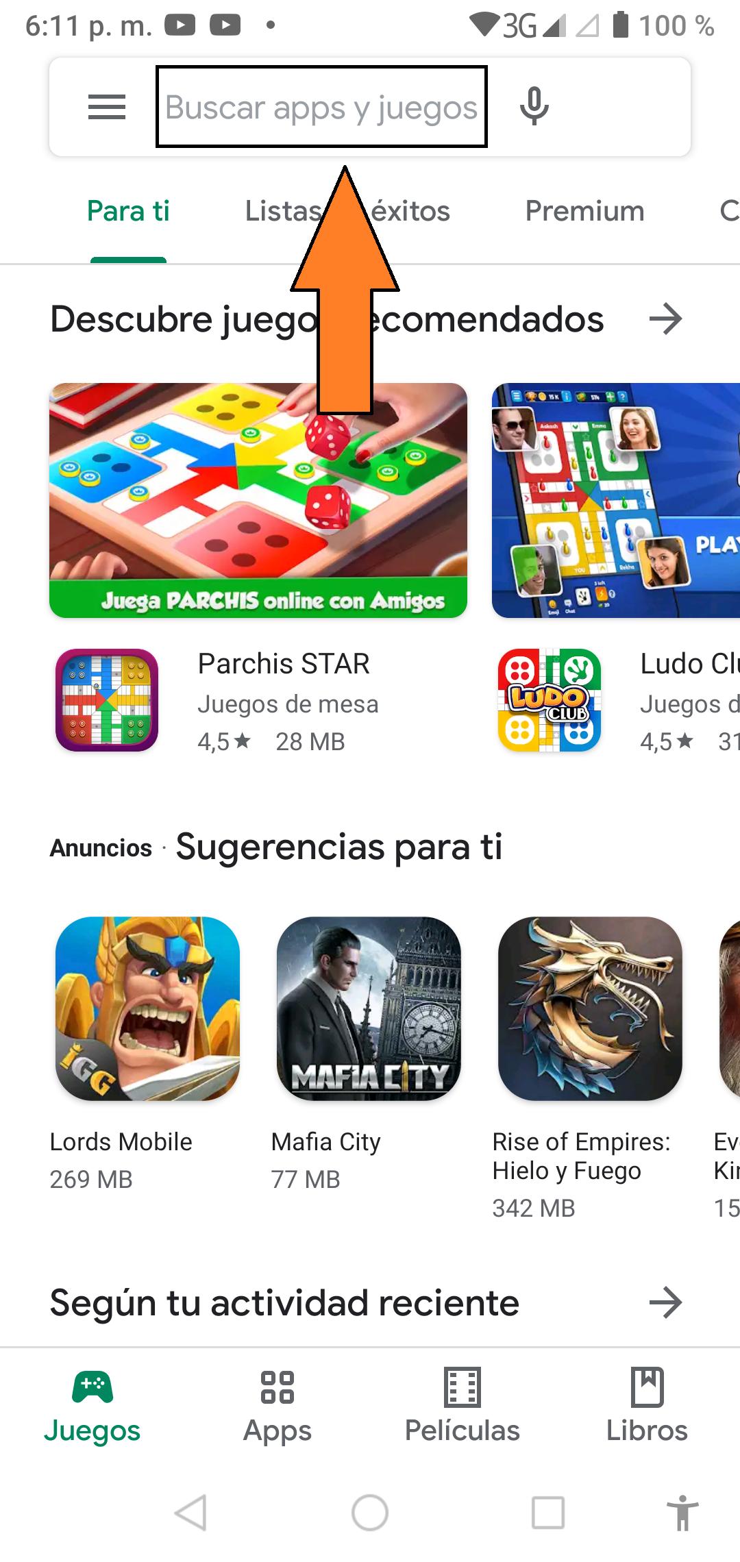 Abrir Google Play Store