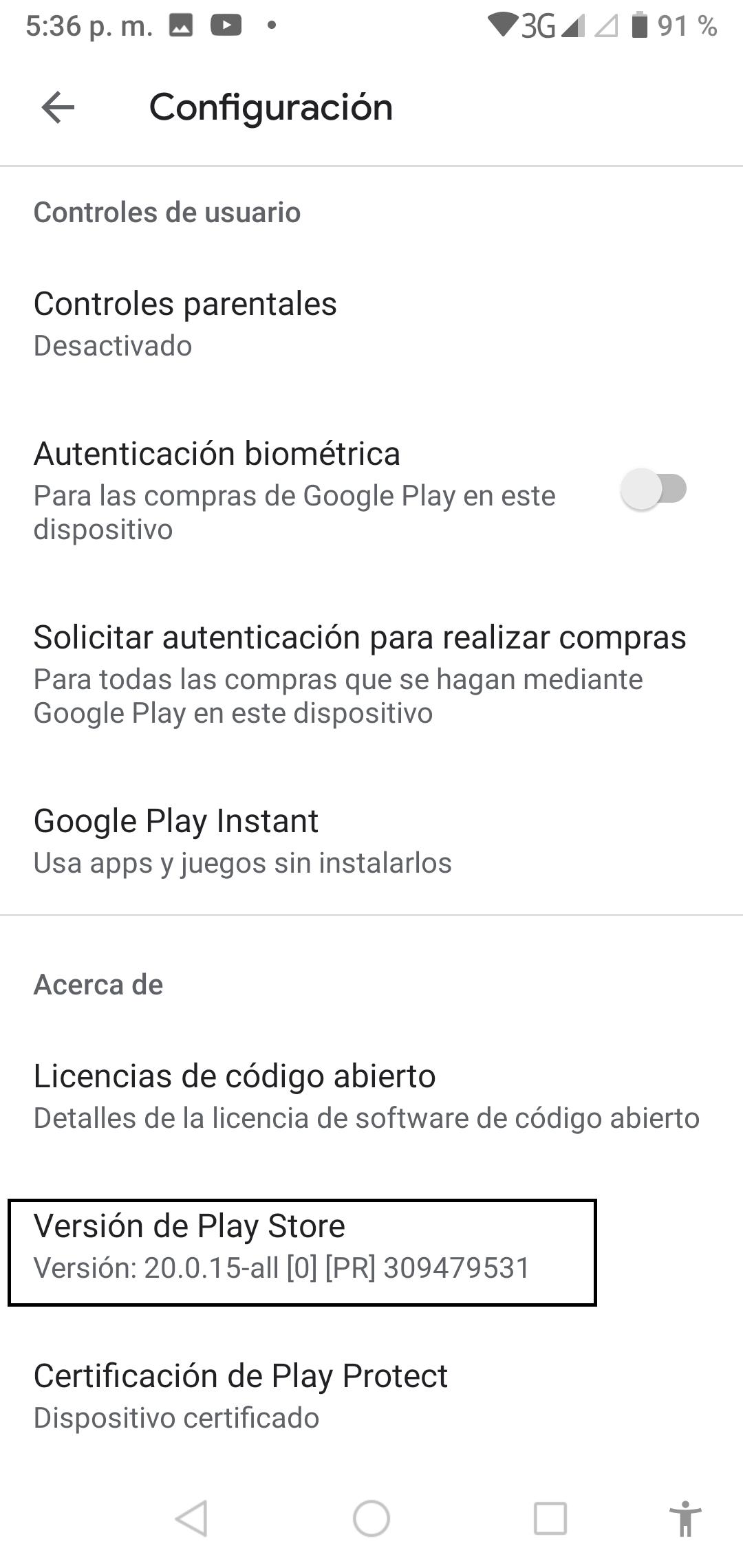 Actualizar Play Store desde Google 2