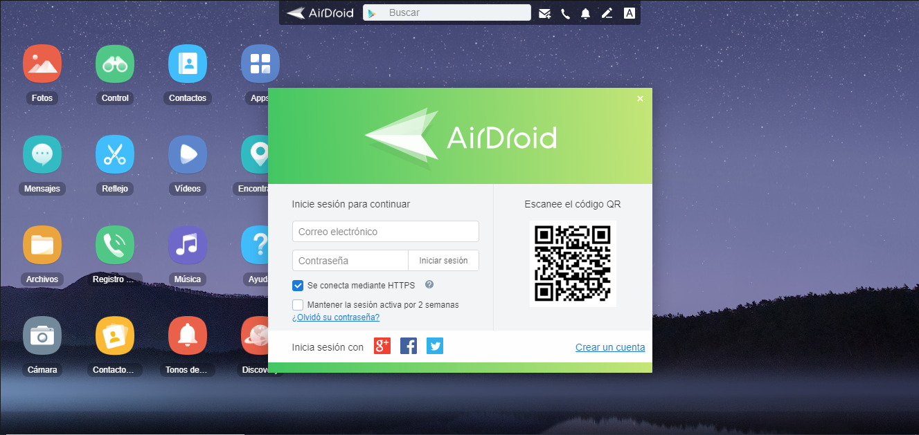 AirDroid 2 Apps para Ver la Pantalla del Móvil en la PC 2.0