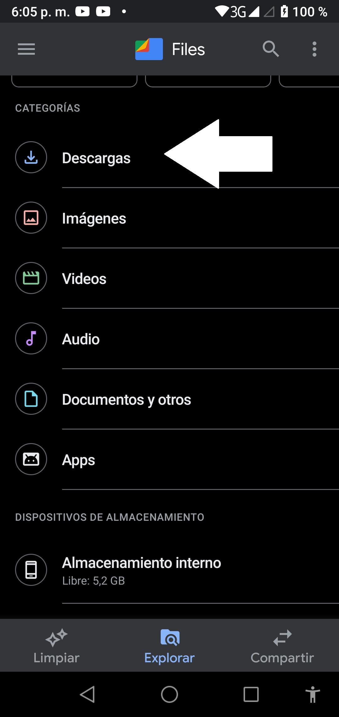 Instala la aplicación desde un formato .Apk 3