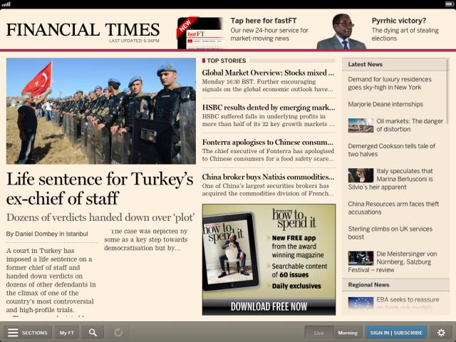 Financial Times Mejores Apps Noticias para Móviles iOS y Android