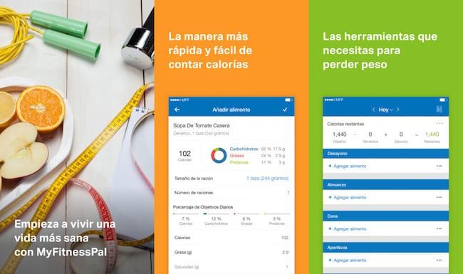 MyFitness Pal TOP 10 Mejores Apps para Bajar de Peso