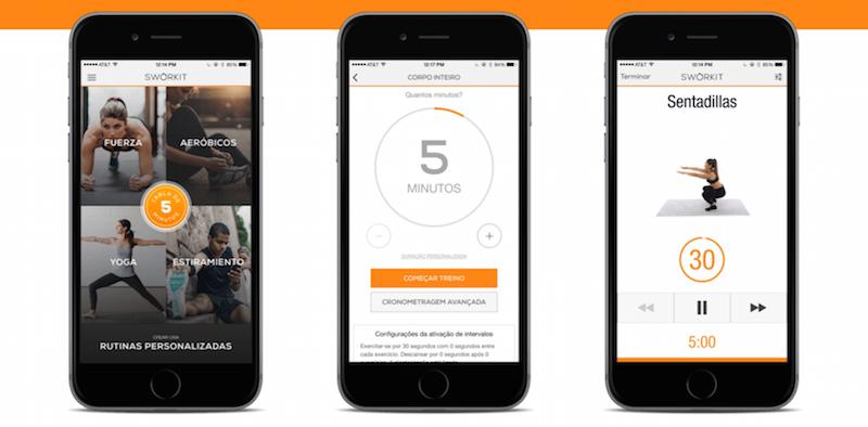 Sworkit Entrenador TOP 10 de las Mejores Apps para Bajar de Peso