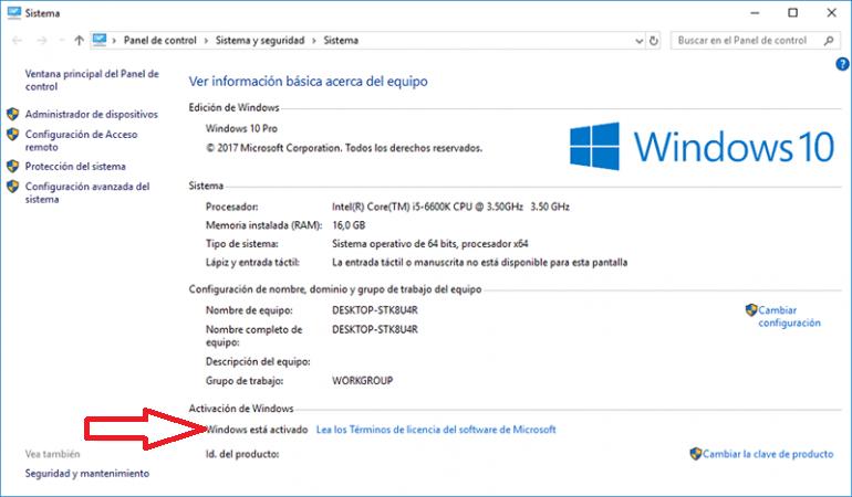 Cómo Verifico la Activación de Windows 10