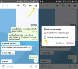 destruir mensajes en telegram