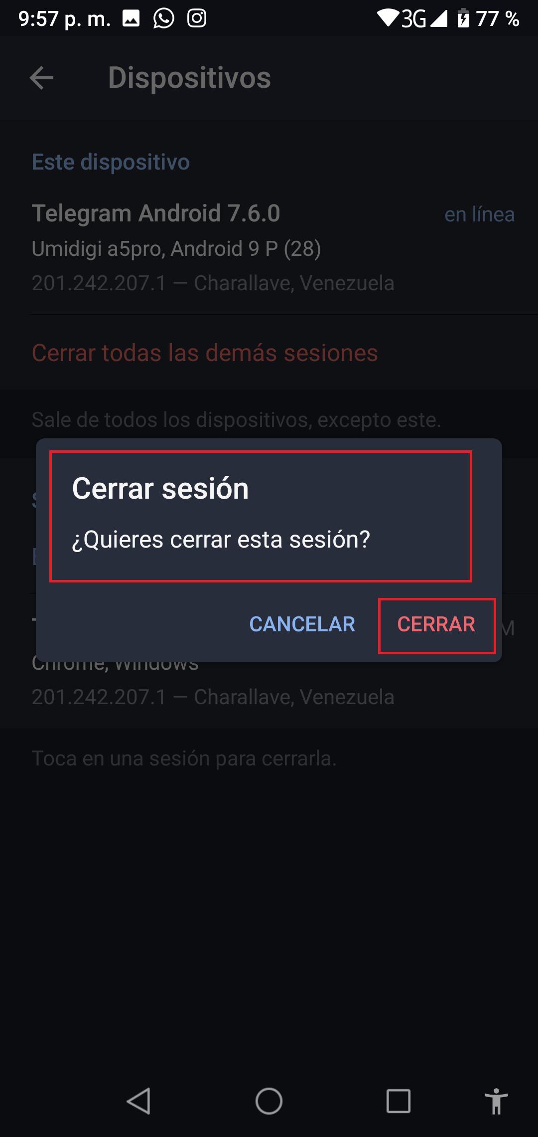 Quieres Cerrar esta Sesión
