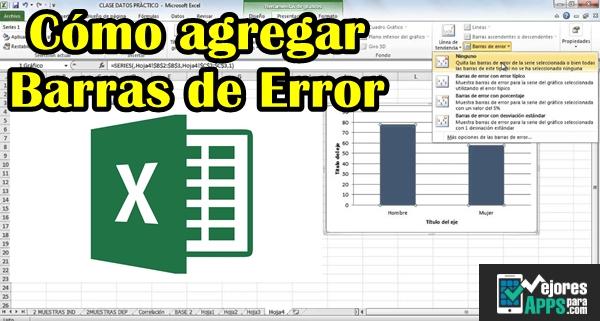 Cómo agregar barras de Error Verticales en Excel