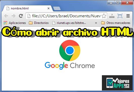 como abrir un archivo html en google chrome