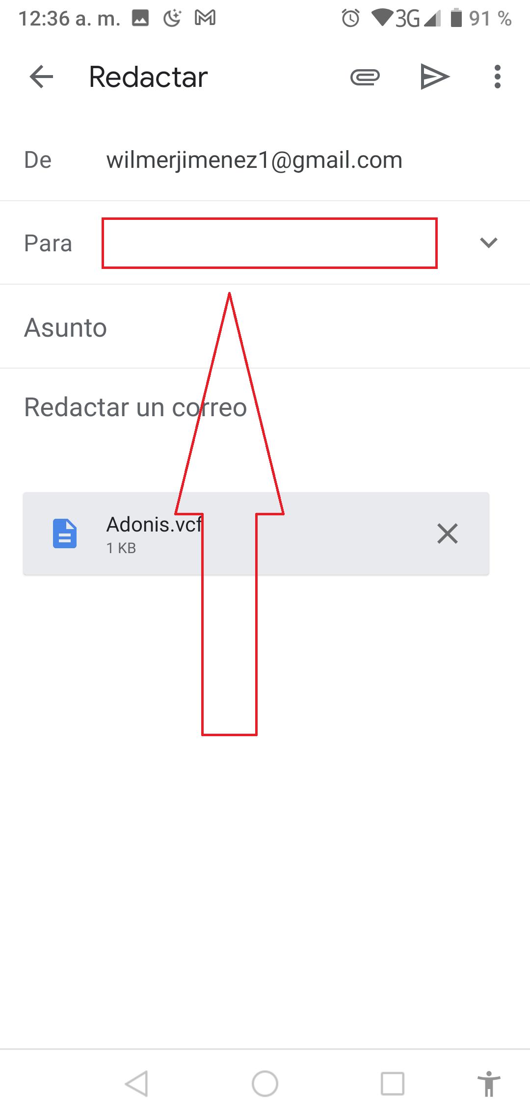 Interfaz de Gmail